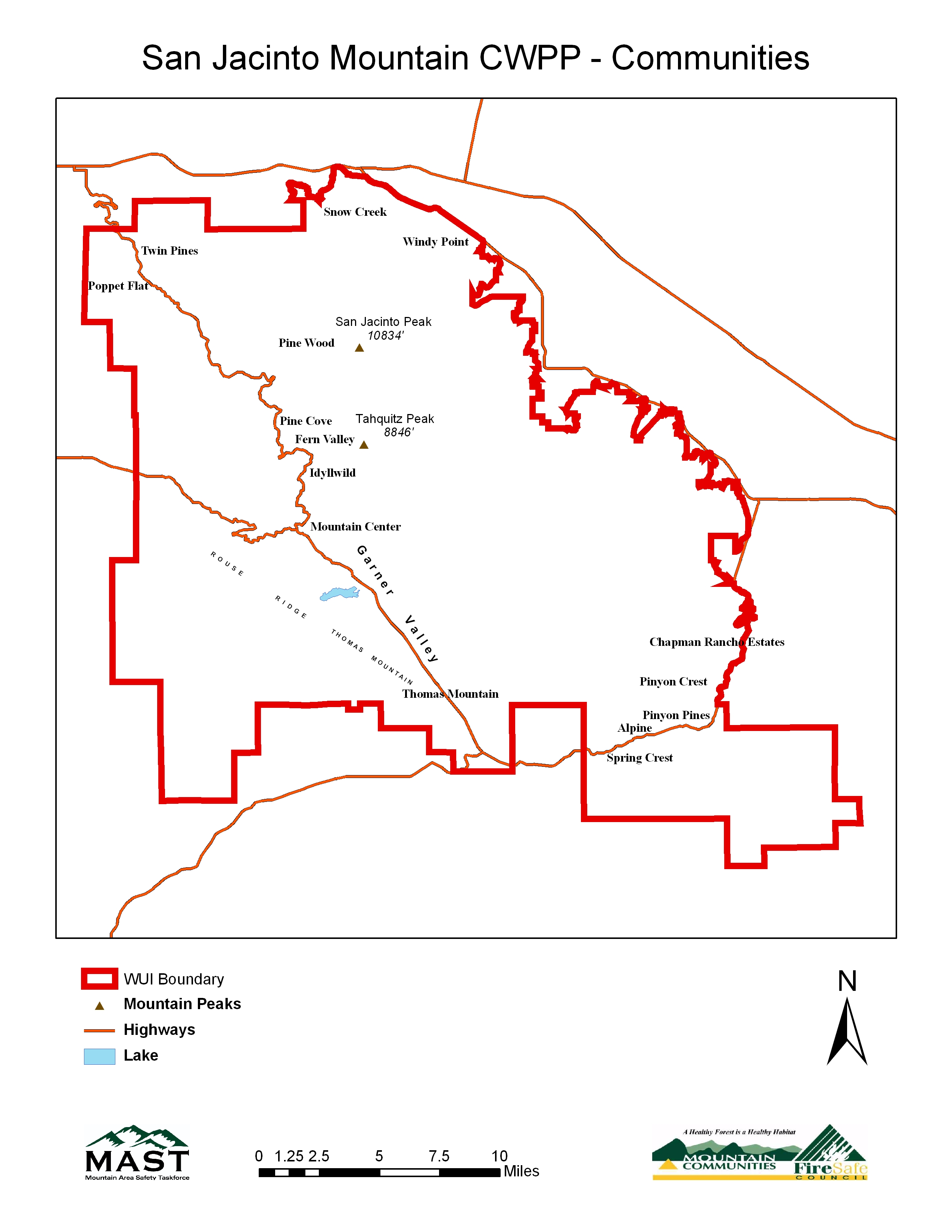 Mountain Area Safety Taskforce Map Library San Jacinto Mountains
